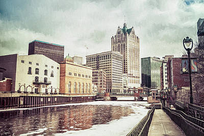 Photograph - Winter Riverwalk Stroll by Joel Witmeyer