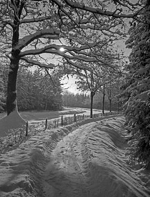 Photograph - Winter Road  Christmas Card by German School