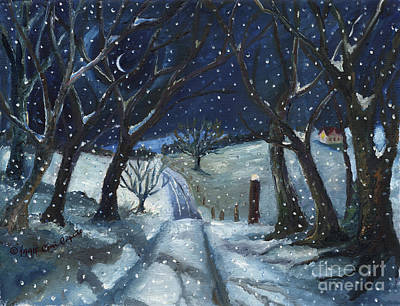Painting - Winter Road by Cori Caputo