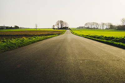 Winter Roads Photograph - Winter Road Ground Level by Pati Photography
