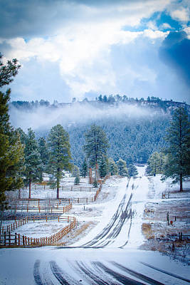 Art Print featuring the photograph Winter Road by Jason Smith