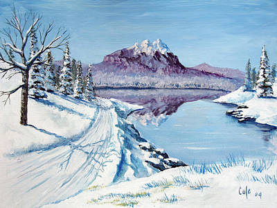 Painting - Winter Road by Larry Cole