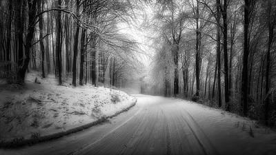 Photograph - Winter Road by Plamen Petkov