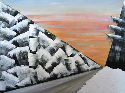 Painting - Winter Road by Tamara Savchenko