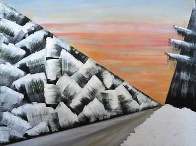 Painting - Winter Road by Tamara Savchenko
