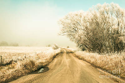 Perfect Christmas Card Photograph - Winter Road Wonderland by Jorgo Photography - Wall Art Gallery