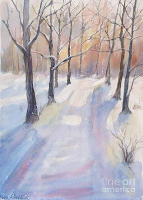 Painting - Winter Road by Yohana Knobloch