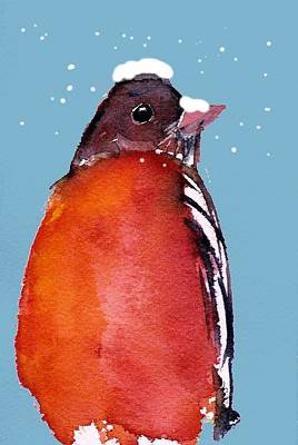 Painting - Winter Robin by Anne Duke