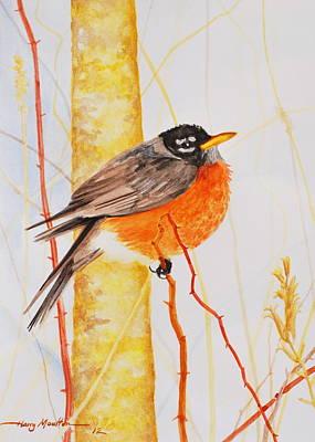 Winter Robin Art Print