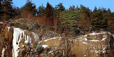 Photograph - Winter Rocks Panorama by Lutz Baar