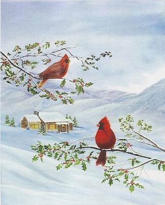 Painting - Winter Romance by RJ McNall
