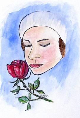 New Years Royalty Free Images - Winter Rose Royalty-Free Image by Clyde J Kell