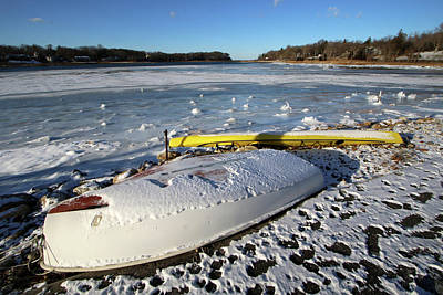 Photograph - Winter Rowboat Setauket New York by Bob Savage