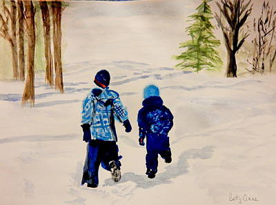 Painting - Winter Run by Betty-Anne McDonald