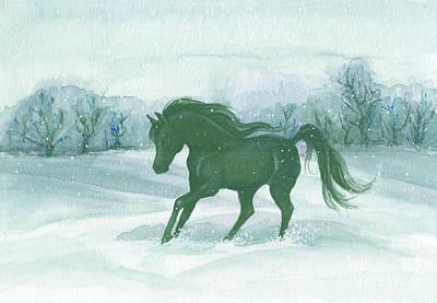 Winter Run Art Print by Darlene Watters