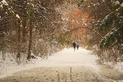 Photograph - Winter Run by Geri Glavis