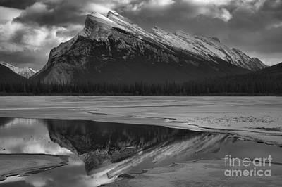 Photograph - Winter Rundle Refelctions Black And White by Adam Jewell