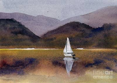 Painting - Winter Sailing At Our Island by Randy Sprout