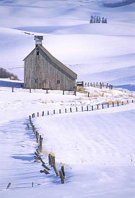 Photograph - Winter Salt Barn by Doug Davidson