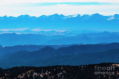 Steven Krull Royalty-Free and Rights-Managed Images - Winter Sangre De Cristo Mountains by Steven Krull