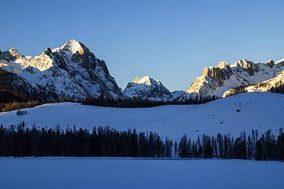 Sunlight Peaking Photograph - Winter Scene Along Sawtooth Range In Stanley Idaho Usa by Vishwanath Bhat