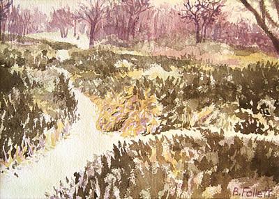 Painting - Winter Scene by Bonnie Follett