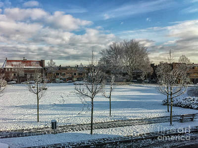 Photograph - Winter Scene In City by Patricia Hofmeester