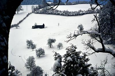 Winter Scene In Switzerland Art Print