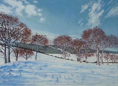 Painting - Winter Scene. Isle Of Wight by Lawrence Holofcener