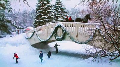 Photograph - Winter Scene by John Rivera