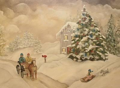 Art Print featuring the painting Winter Scene by John Stuart Webbstock