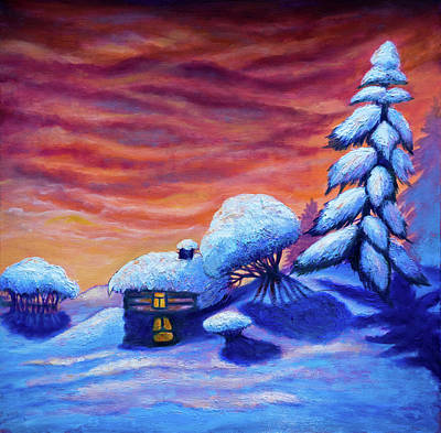Painting - Winter Scene by Lilia D