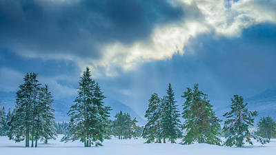 Crawford Photograph - Winter Scene - New Hampshire by Joseph Smith