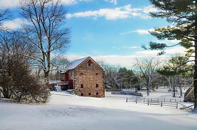 Winter Scene On A Pennsylvania Farm Art Print by Bill Cannon
