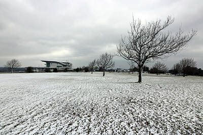 Photograph - Winter Scene On Epsom Downs Surrey by Julia Gavin