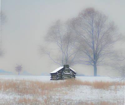 Winter Scenes Photograph - Winter Scene - Valley Forge by Bill Cannon