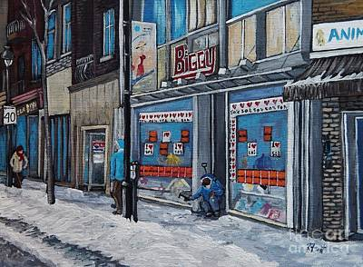 Montreal Winter Scenes Painting - Winter Scene Verdun by Reb Frost