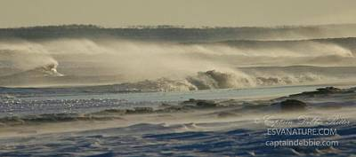 Photograph - Winter Sea Storm 3 by Captain Debbie Ritter