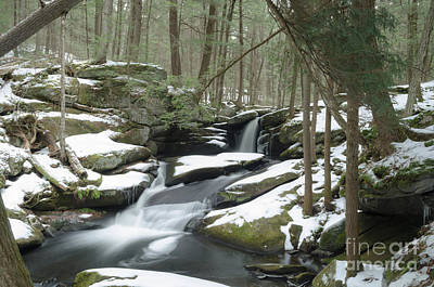 Photograph - Winter Serene At The Hidden Pulpit Falls by Along The Trail