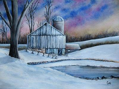 Wall Art - Painting - Winter Serenity by Lisa Cini
