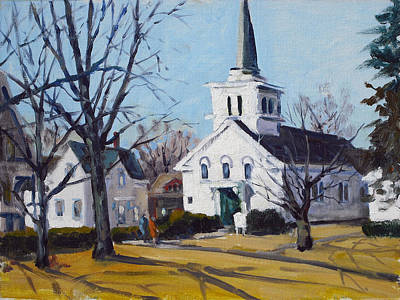 Rockport Massachusetts Painting - Winter Services by Chris Coyne