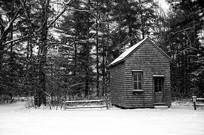Photograph - Winter Shack by John Rizzuto