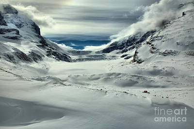 Photograph - Winter Shadows Below The Athabasca Glacier by Adam Jewell