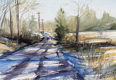 Painting - Winter Shadows  by Judith Levins