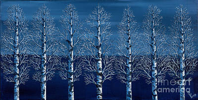 Painting - Winter Shadows by Rebecca Parker