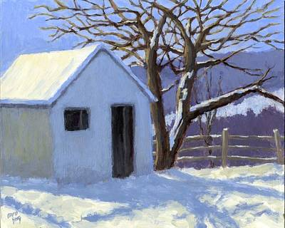 Painting - Winter Shed by David King