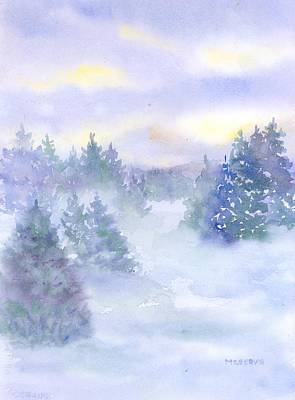 Painting - Winter Silence  by Roseann Meserve