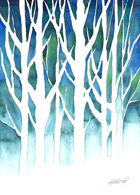 Painting - Winter Silhouette by Kristen Fox