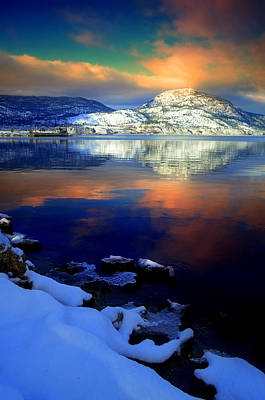 Photograph - Winter Skies And A Snowy Shore by Tara Turner