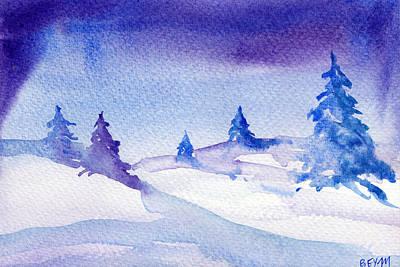 Painting - Winter Sky by Clara Sue Beym